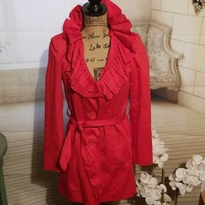 Madison Michelle Red Coat in EUC SIze 4